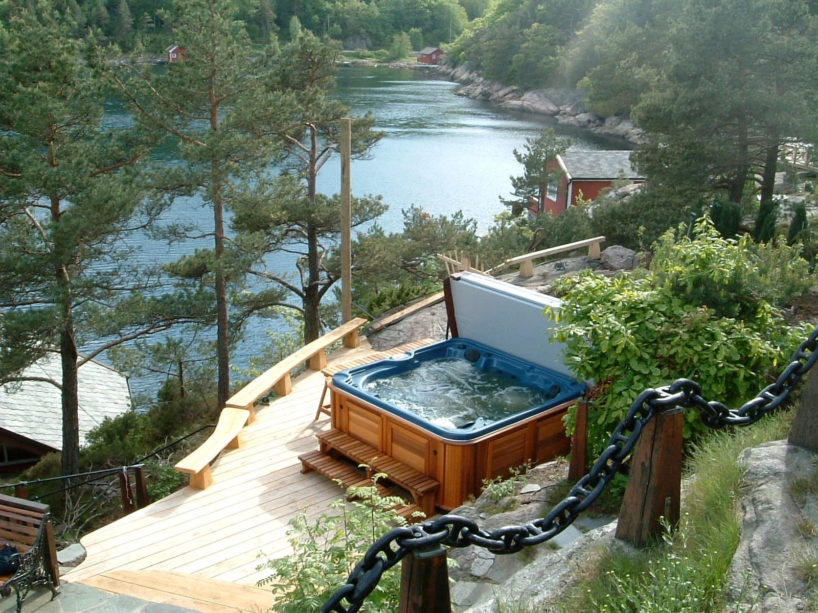 arctic spas hot tub fishing lake