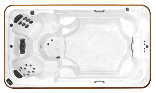Top view of the Arctic Spas All Weather Pool Ocean Prestige