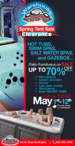spring tent sale – clearance – starts may 1st – may 12th!