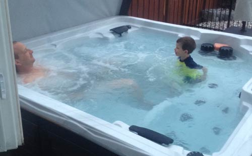 happy arctic onzen salt water hot tub customer!