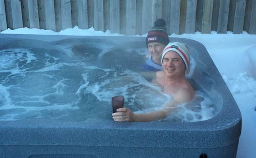 arctic spa durham customers enjoying life in their spa!