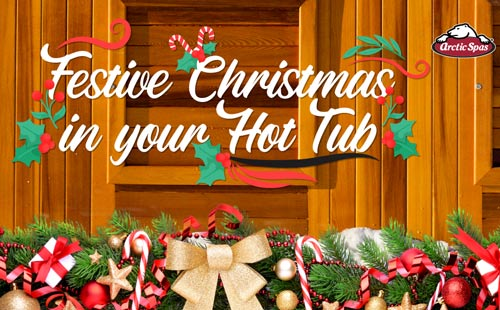 festive christmas in your hot tub